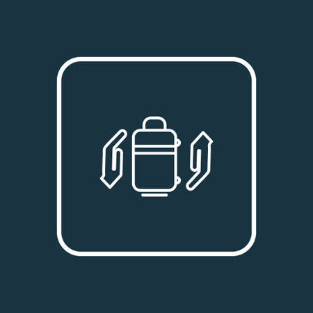 Baggage insurance icon line symbol. Premium quality isolated protect luggage element in trendy style. Ilustração