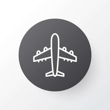 Aircraft icon symbol. Premium quality isolated airliner element in trendy style.