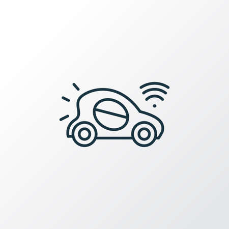 Autonomous car icon line symbol. Premium quality isolated automobile element in trendy style.