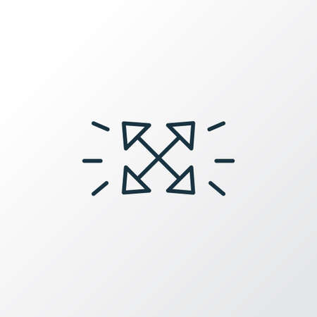 Scalable system icon line symbol. Premium quality isolated maximize element in trendy style.