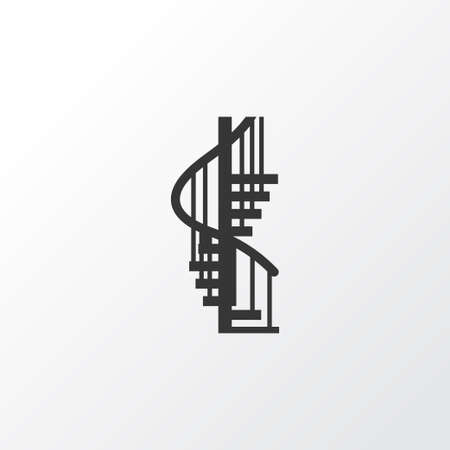 Circular staircase icon symbol. Premium quality isolated stepladder element in trendy style.