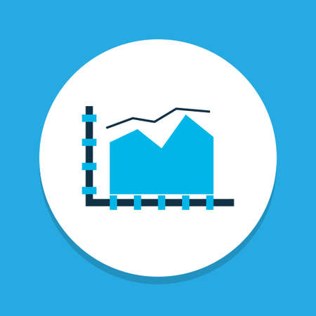 Area line chart icon colored symbol. Premium quality isolated graph element in trendy style.