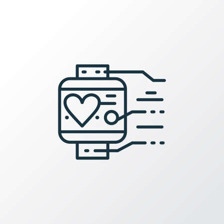 Wearable tracker icon line symbol. Premium quality isolated smartwatch element in trendy style.