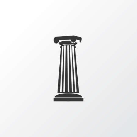 Symbol für das Spaltensymbol. Hochwertiges isoliertes Säulenelement im trendigen Stil. Vektorgrafik