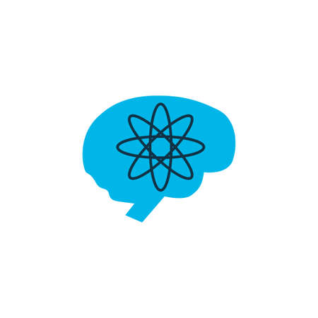 Brainstorm icon colored symbol. Premium quality isolated genius element in trendy style.