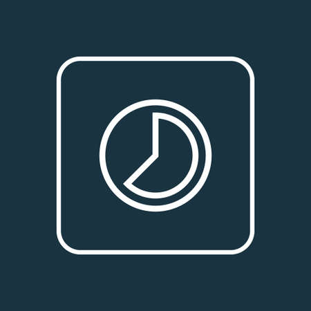 Accelerated icon line symbol. Premium quality isolated timelapse element in trendy style.