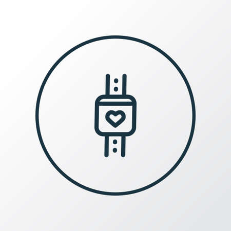 Smart watch icon line symbol. Premium quality isolated wearable element in trendy style. Illustration