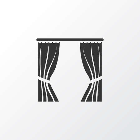 Curtain icon symbol. Premium quality isolated drapery element in trendy style. Illustration