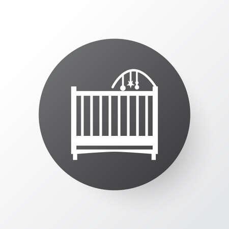 Symbole d'icône de berceau. Élément de lit isolé de qualité supérieure dans un style branché.