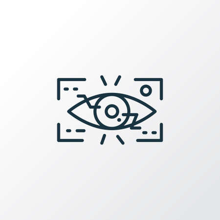 Eyetap augmentation icon line symbol. Premium quality isolated observation element in trendy style. Illustration