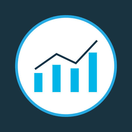 Bar graph icon colored symbol. Premium quality isolated line chart element in trendy style. Illustration