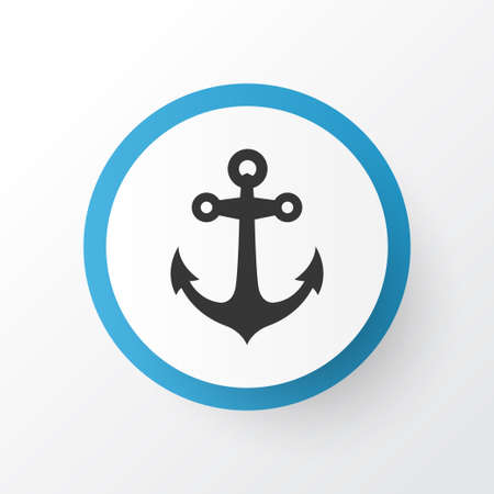Anchor icon symbol. Premium quality isolated boat stability element in trendy style. Illustration