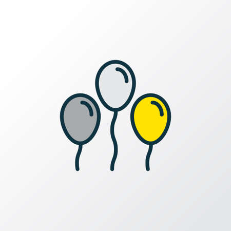 Balloons icon colored line symbol. Premium quality isolated helium element in trendy style.