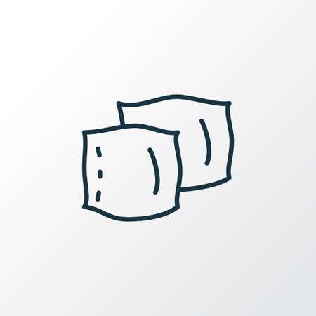 Pillow icon line symbol. Premium quality isolated cushion element in trendy style. Stock Illustratie