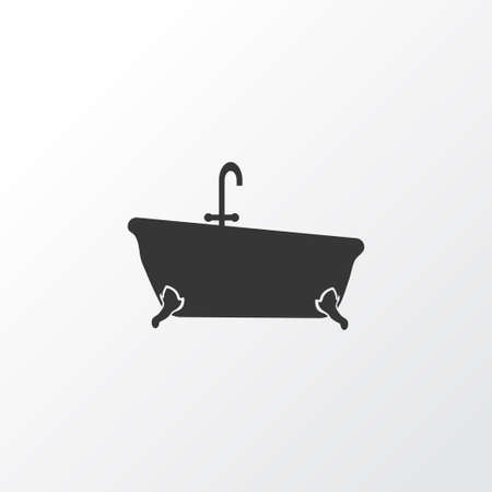 Bathtub icon symbol. Premium quality isolated tub element in trendy style.