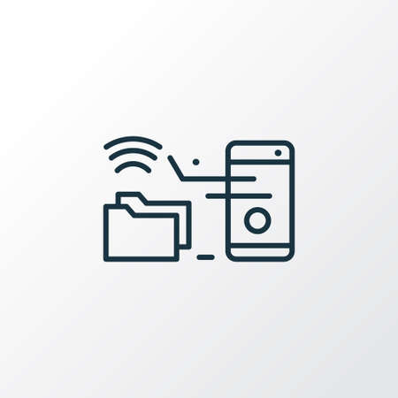 Remote access icon line symbol. Premium quality isolated wireless connection element in trendy style.