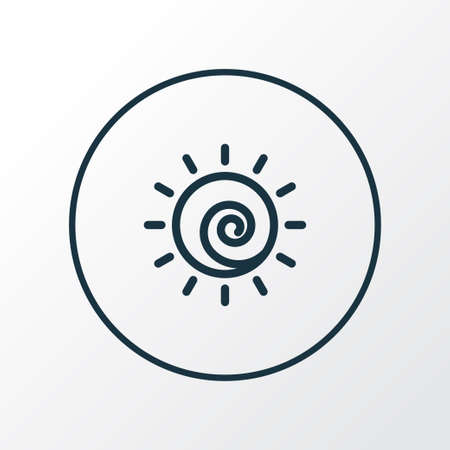 Sun icon line symbol. Premium quality isolated sunshine element in trendy style.