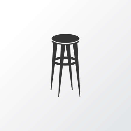Barstool icon symbol. Premium quality isolated bar chair element in trendy style.