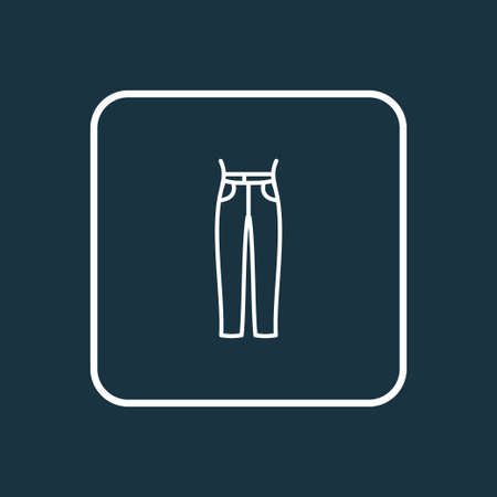 High waist jeans icon line symbol. Premium quality isolated pants element in trendy style. Stock Illustratie
