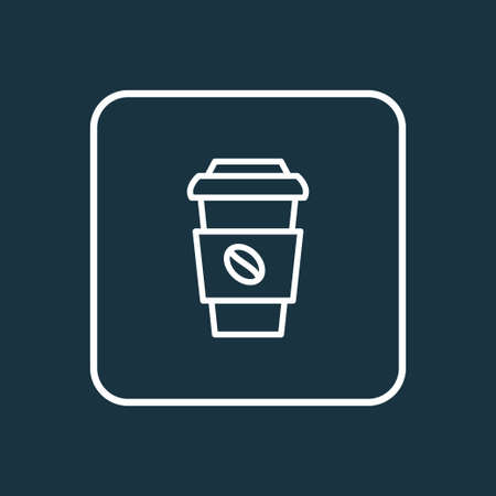 Coffee cup icon line symbol. Premium quality isolated decaf element in trendy style.