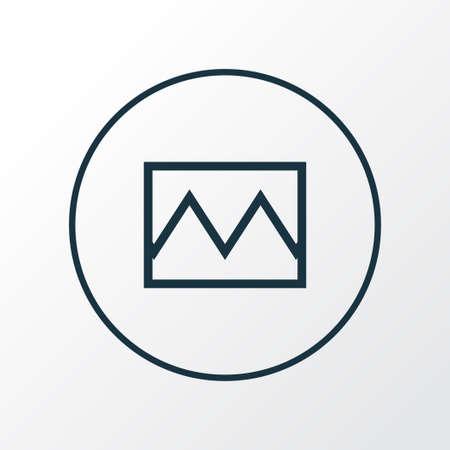 Photo icon line symbol. Premium quality isolated broken image element in trendy style. Stock Illustratie