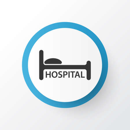 Hospital icon symbol. Premium quality isolated clinic element in trendy style.