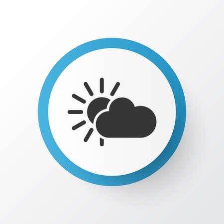Sunshine icon symbol. Premium quality isolated overcast element in trendy style. Stock Illustratie