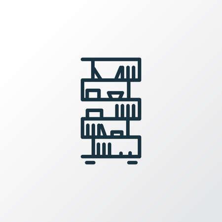Bookshelf icon line symbol. Premium quality isolated bookcase element in trendy style. Stock Illustratie