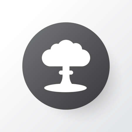 Nuclear explosion icon symbol. Premium quality isolated atom element in trendy style.  イラスト・ベクター素材