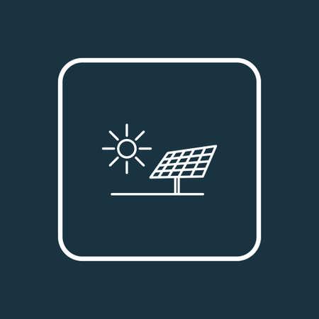 Alternative energy icon line symbol. Premium quality isolated solar panel element in trendy style.