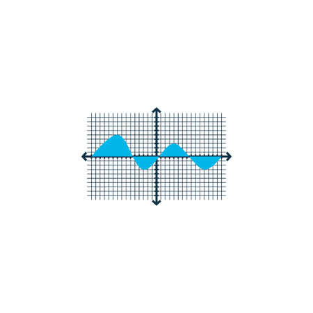 Analysis chart grid icon colored symbol. Premium quality isolated coordinate system element in trendy style. Stock Illustratie