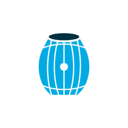 Brewery icon colored symbol. Premium quality isolated barrel of beer element in trendy style.