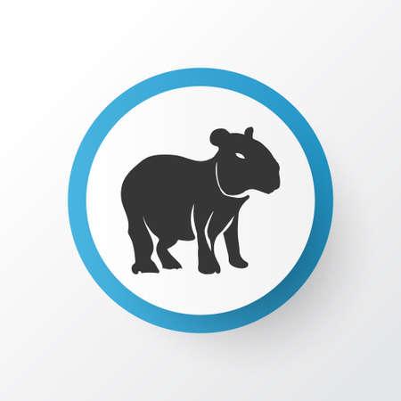 Capybara icon symbol. Premium quality isolated gerbil element in trendy style.