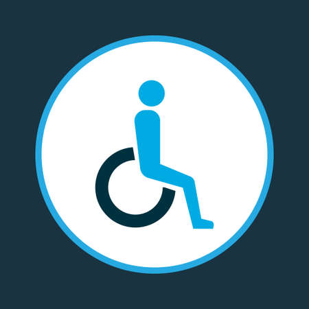 Handicapped icon colored symbol. Premium quality isolated disabled element in trendy style.