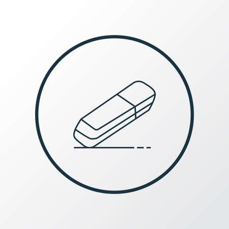 Eraser icon line symbol. Premium quality isolated rubber element in trendy style. Stock Illustratie