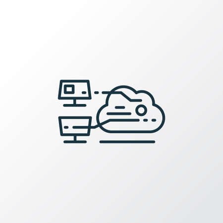 Cloud computing icon line symbol. Premium quality isolated web element in trendy style.