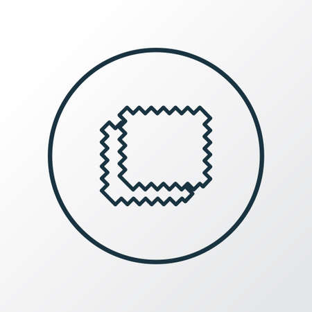 Material samples icon line symbol. Premium quality isolated shape element in trendy style. Иллюстрация