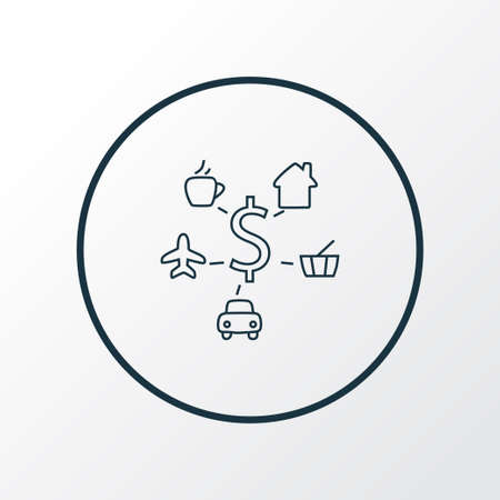 Expenses icon line symbol. Premium quality isolated commercial element in trendy style.
