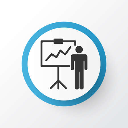 Personal presentation icon symbol. Premium quality isolated special demonstration element in trendy style. Stock Illustratie