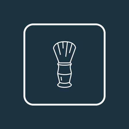 Shaving brush icon line symbol. Premium quality isolated shaver element in trendy style. Illustration