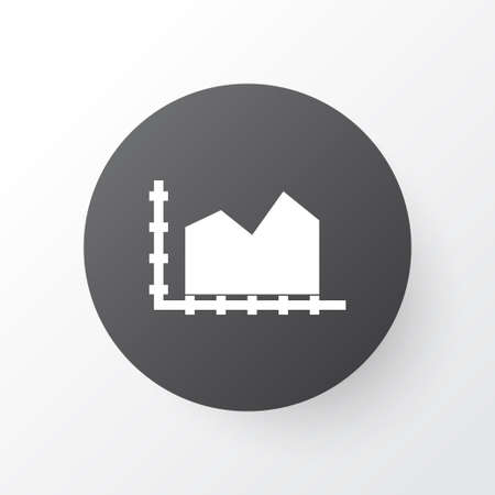 Diagram icon symbol. Premium quality isolated area element in trendy style. Illustration