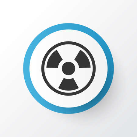 Biohazard icon symbol. Premium quality isolated dangerous element in trendy style.