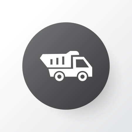 Tipper icon symbol. Premium quality isolated truck element in trendy style. Illustration