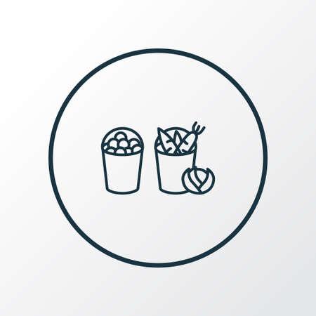 Harvest icon line symbol. Premium quality isolated basket element in trendy style. Foto de archivo - 124743143