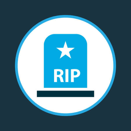 Tomb icon colored symbol. Premium quality isolated grave element in trendy style. Ilustrace