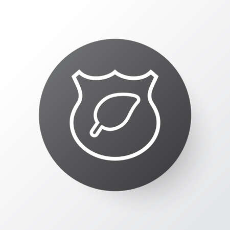 Protect ecology icon symbol. Premium quality isolated guard tree element in trendy style. Stock Photo