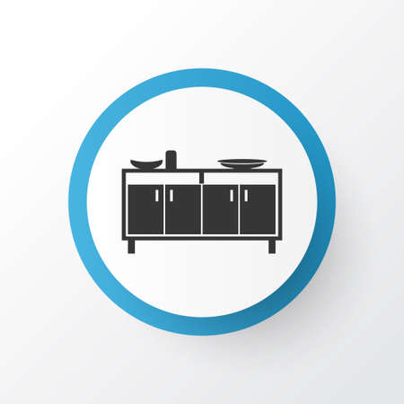 Sideboard icon symbol. Premium quality isolated shelf element in trendy style.