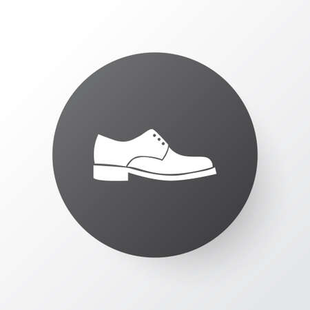 Male footwear icon symbol. Premium quality isolated elegance element in trendy style.