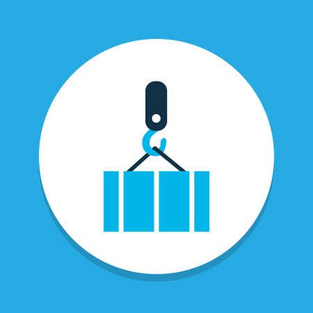 Overhead crane icon colored symbol. Premium quality isolated container element in trendy style. Ilustração