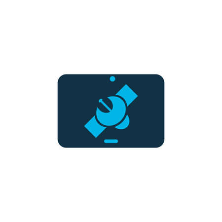 Tablet connection icon colored symbol. Premium quality isolated technology element in trendy style.